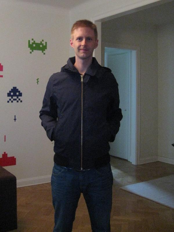 Bild på ny jacka